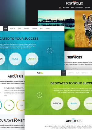 ARYA – One Page Responsive PSD Theme
